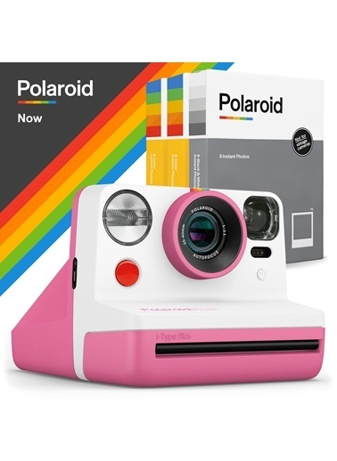 Polaroid Polaroid Now Pembe Instant Fotoğraf Makinesi ve 24'lü Film Hediye Seti Pembe